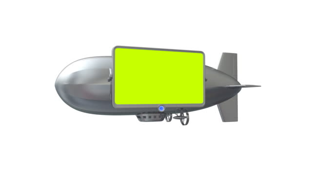 screen on dirigible - zeplin stok videoları ve detay görüntü çekimi