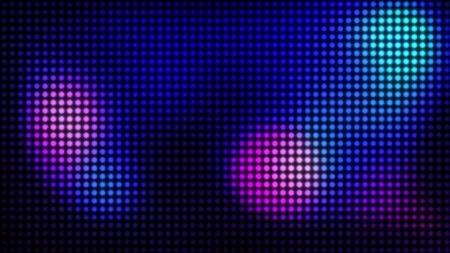 stockvideo's en b-roll-footage met led scherm. pixel patroon. vide lus. - halftint