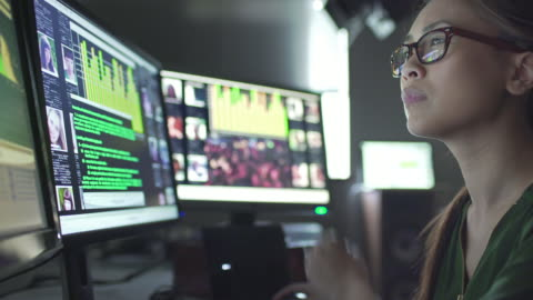 vidéos et rushes de données d'id écrans - analyser
