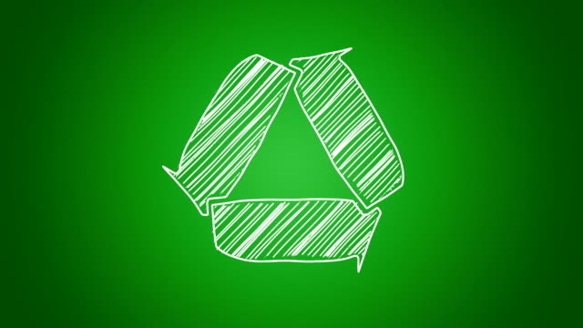 Scribbled recycle sign video