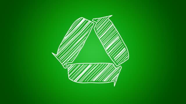 wykonywanie znak recykling - odzyskiwanie i przetwarzanie surowców wtórnych filmów i materiałów b-roll