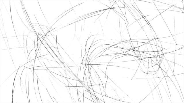 scribbling - scarabocchio motivo ornamentale video stock e b–roll