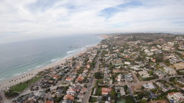 Scripps Beach and Pier Aerial Shot La Jolla California video