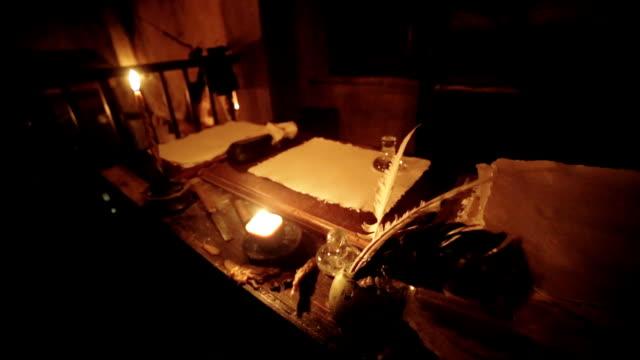 Scriptorium at candlelit video