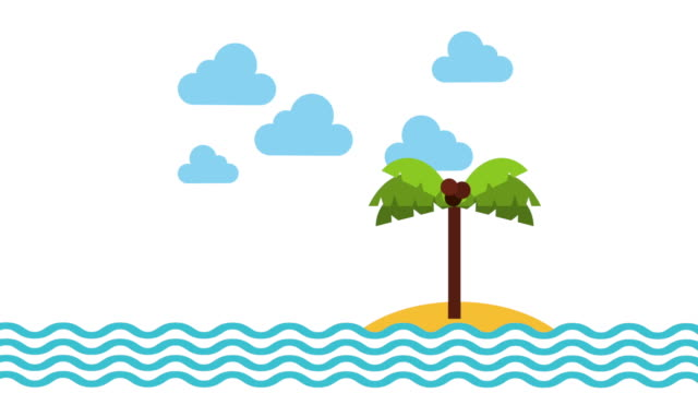 sea and beach, Video animation video