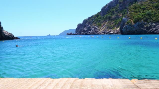 Sea and  jetty in Paleokastritsa, Corfu