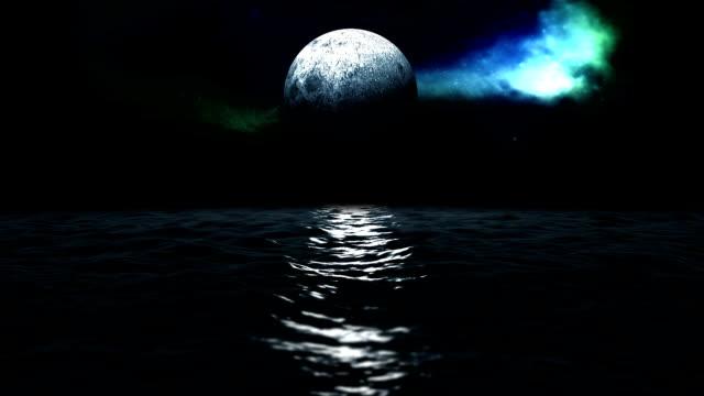 vídeos y material grabado en eventos de stock de mar y luna - marea