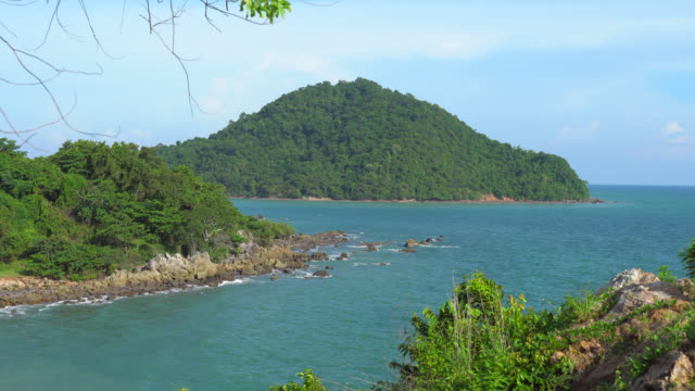 Sea and mountain viewpoints in Chanthaburi province, east of Thailand.