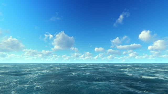 海と空 - 水平線点の映像素材/bロール