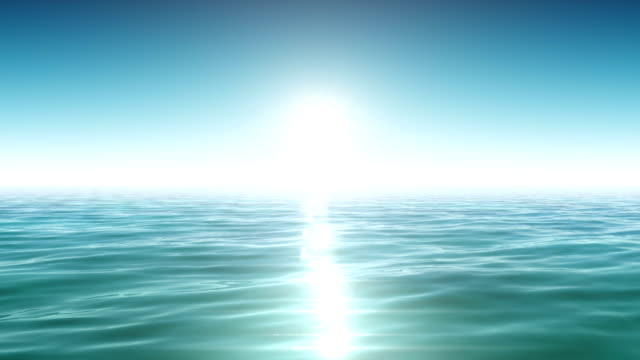 Sea and sun. Blue sky. Looped animation. HD 1080. video