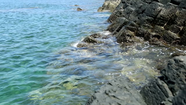sea and volcanic rock sea and volcanic rock grooved stock videos & royalty-free footage