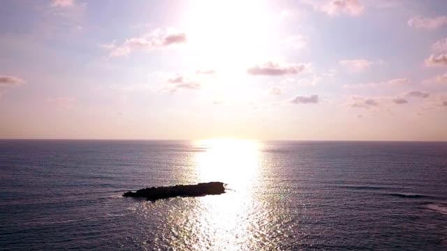 Sea at sunset video