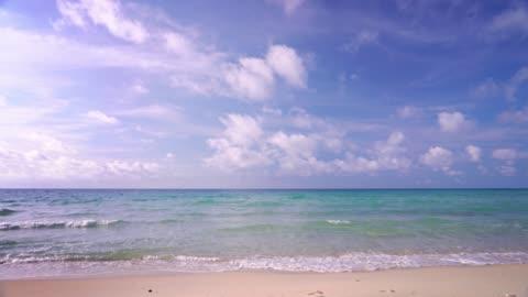 vídeos y material grabado en eventos de stock de mar. cielo azul claro. playa de arena. concept holiday nature. - playa