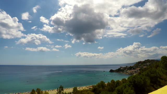 Sea, Nature Scene, Caminia, Calabria, Time Lapse, 4k