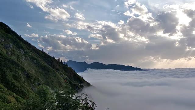 sea of fog over mountains