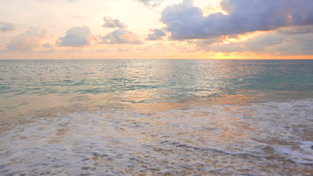 HD Sea on the beach with sunset video