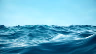 istock Sea or ocean, waves close-up view. Blue waves sea water. Blue crystal clear water. One can see the sandy seabed. Sea wave low angle view. 3D 4K animation 1166029933