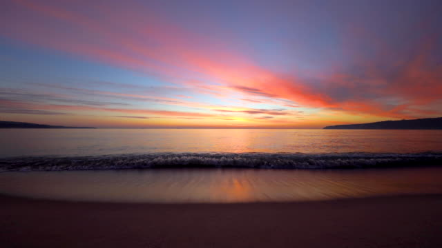 sea sunrise and ripple waves, beautiful morning on the beach - sunset stock videos & royalty-free footage