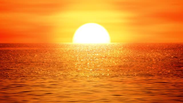 Sea sunset - loopable, HD, NTSC