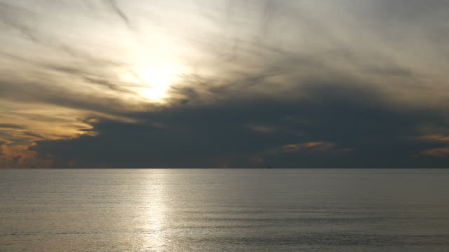 Sea tide and sunrise video