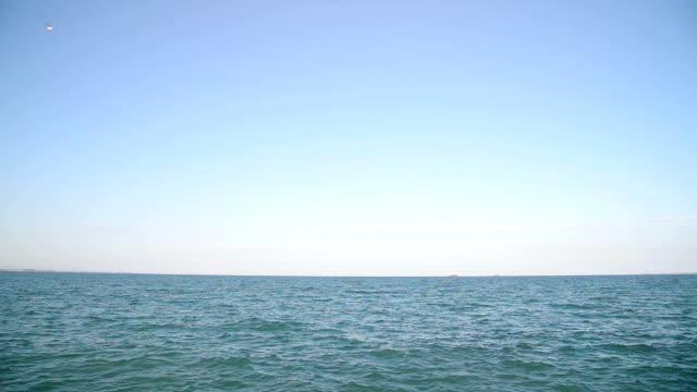 vídeos de stock e filmes b-roll de sea - linha do horizonte sobre água