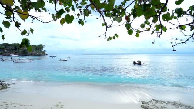 sea view on nusa lembongan , indonesia video