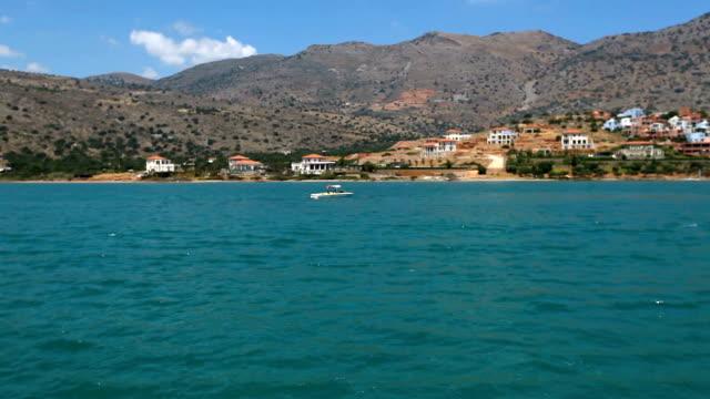 Sea voyage along the shores of Greece video