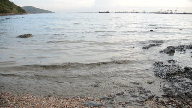 Sea water contains contaminants. video