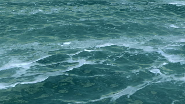 Sea water surface with foam video
