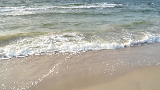 Sea water's edge close-up. video
