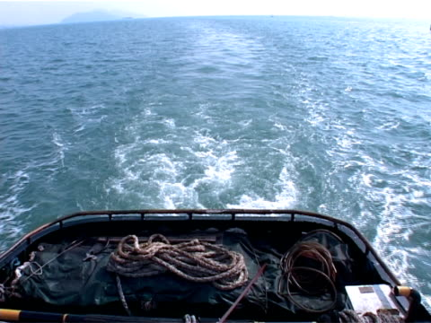 Sea Wave From Boat video
