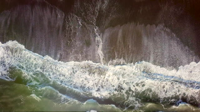 Sea waves. Aerial view Sea, Wave - Water, Aerial View, Glittering, No People cliffs stock videos & royalty-free footage