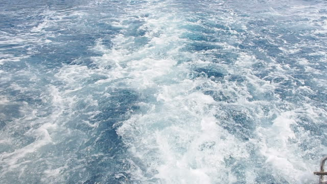 Sea waves caused by speedboats