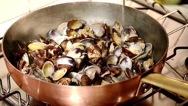 seafood, clams video