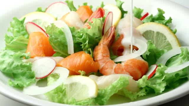 Seafood salad video
