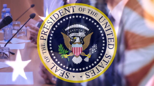 Seal of the President of USA Seal of the President of USA,campaign election president stock videos & royalty-free footage