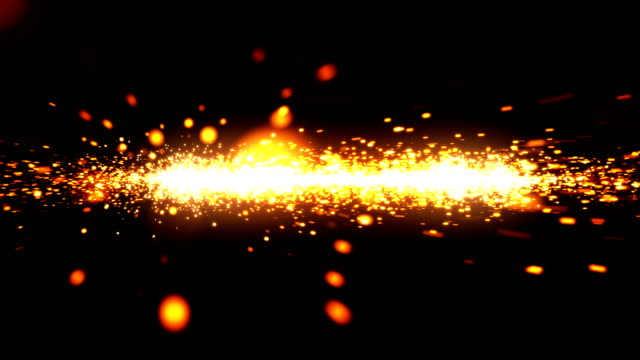 Seamless animation of sparks flying into the camera video