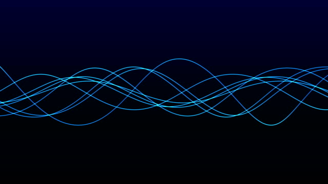 4K Seamless background animation of abstract wave form. flowing streaks. Motion graphic and animation background.