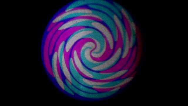為音樂視頻, led 螢幕, 緩慢旋轉的無縫糖果南環, - 波板糖 個影片檔及 b 捲影像