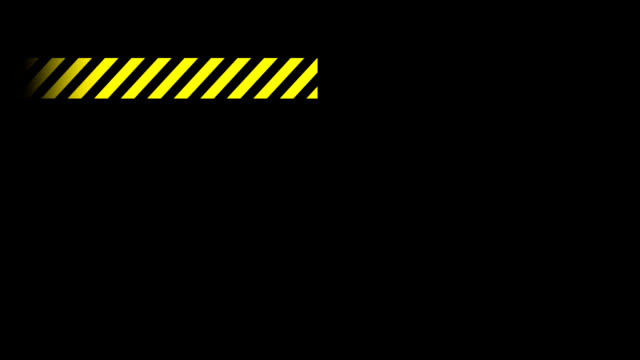 Seamless Industrial Danger Notice in 1080HD. An industrial danger sign, flashing and cycling caution bar. In 1080HD on a black background. Seamlessly looping. warning sign stock videos & royalty-free footage
