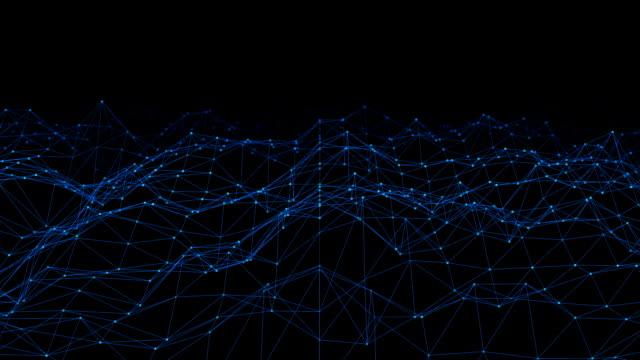 sömlös loop - abstrakt futuristiska - prickar och linjer. anslutning struktur. - designelement bildbanksvideor och videomaterial från bakom kulisserna