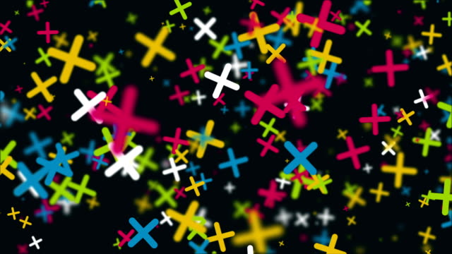 Seamless loop abstract geometric background with motion crosses. video