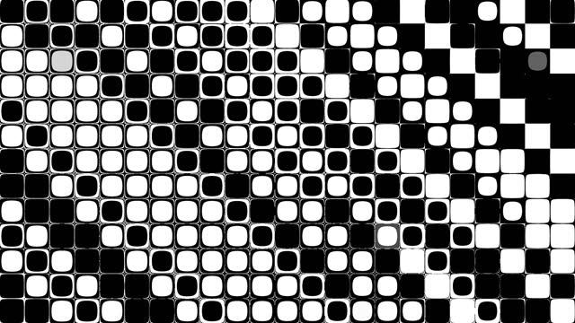 vidéos et rushes de fond abstrait de mouvement de boucle transparente. images abstraites à pois. - image teintée