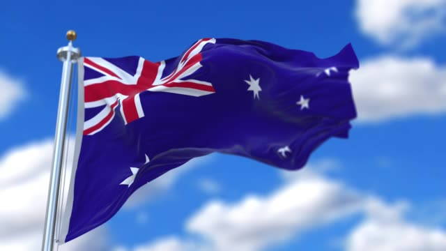 Seamless loop Australian flag.