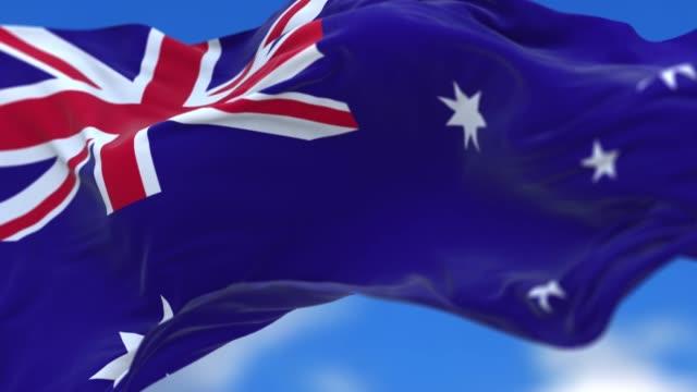 Seamless loop Australian flag.