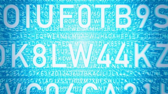 Seamless Loop Data Code Numbers Flying Through Screen video