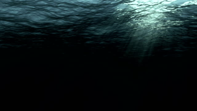 Seamless Loop Digital Animation Of Deep Dark Ocean Waves From