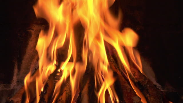Seamless Loop Fireplace 1080p Audio Stock Video - Download