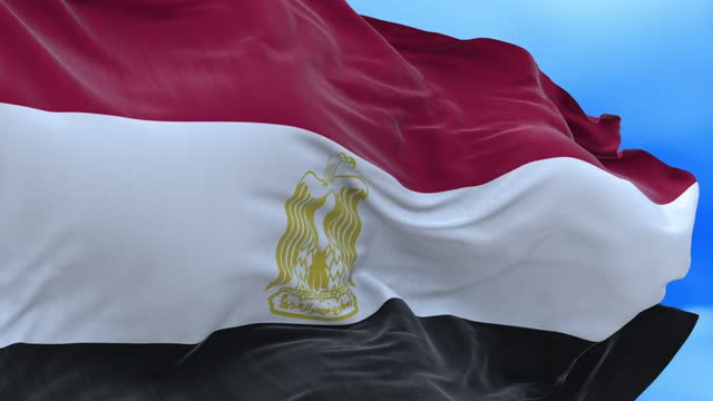 Seamless loop of Egyptian flag.