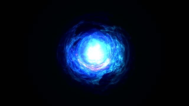 Nahtlose Schleife des Energy Ball blau – Video